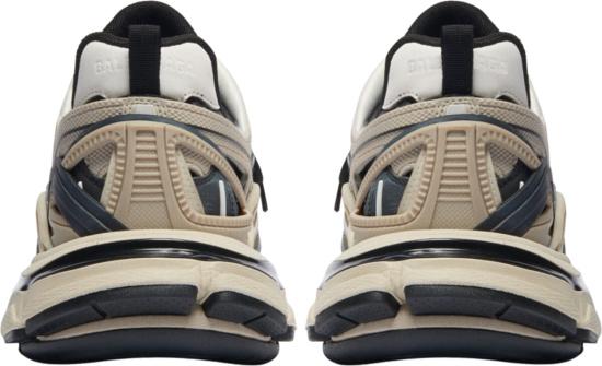 Balenciaga Beige Black White Track Sneakers