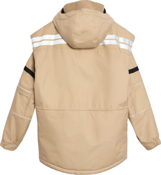 Balenciaga Beige Convertible Parka Jacket
