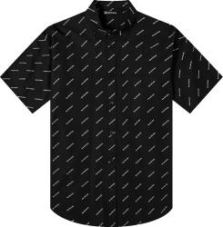 Balenciaga Black Allover Logo Shirt