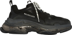 Balenciaga Black And Clear Tripe S Sneakers