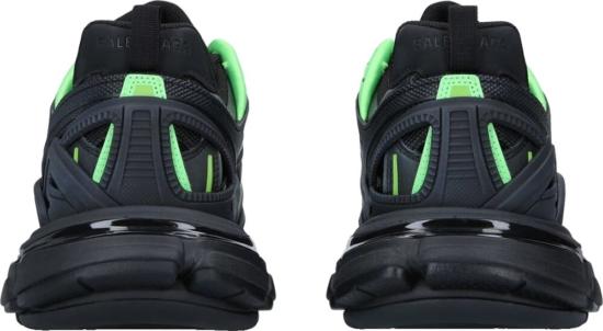 Balenciaga Black And Green Track Trainers