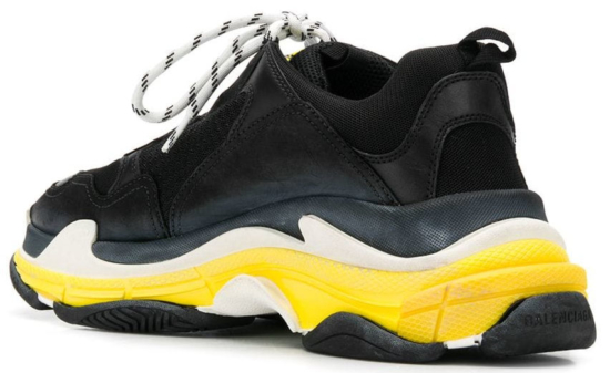 Balenciaga Black And Yellow Triple S Sneakers Worn By Ybn Almighty Jay