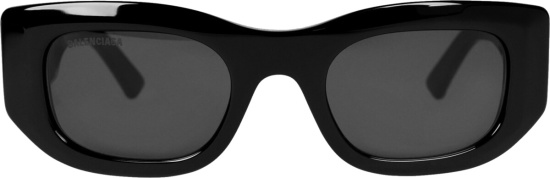 Balenciaga Black Blow Rectangle Sunglasses