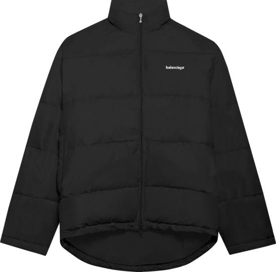 Balenciaga Black C Shaped Puffer Jacket