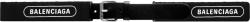 Balenciaga Black Canvas Logo Print Belt