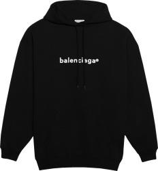 Balenciaga Black Copyright Hoodie