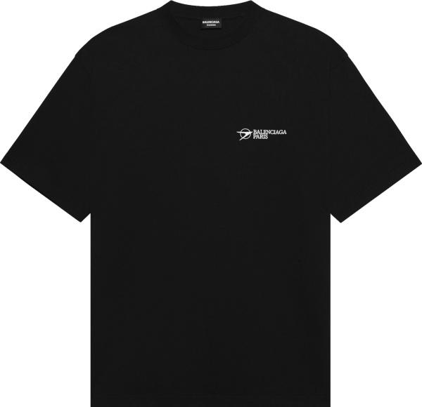 Balenciaga Black Corporate Logo T Shirt