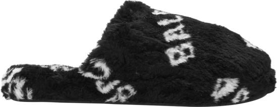 Balenciaga Black Fur Slippers
