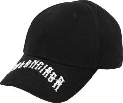 Balenciaga Black Gothic Logo Hat