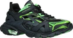 Balenciaga Black & Green Track 2.0 Sneakers