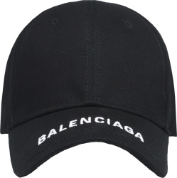Black Logo Embroidered Hat