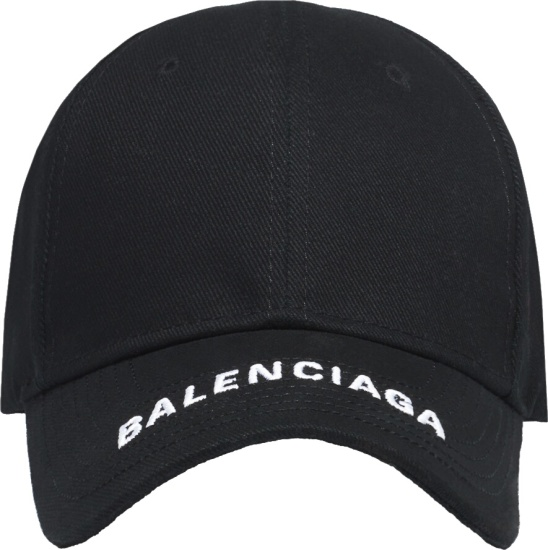 Balenciaga Black Hat With Logo Brim