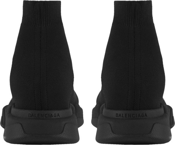 Balenciaga Black Knit Slip On Sock Sneakers