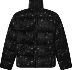 Balenciaga Black License Puffer Jacket