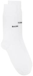 Balenciaga Black Logo White Knit Socks Worn By Young Thug