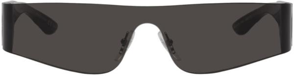 Balenciaga Black Mono Sunglasses