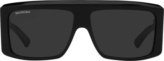 Balenciaga Black Oversized Rectangular Sunglasses