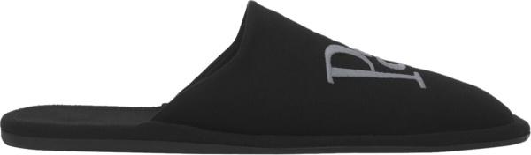 Balenciaga Black Paris Slippers