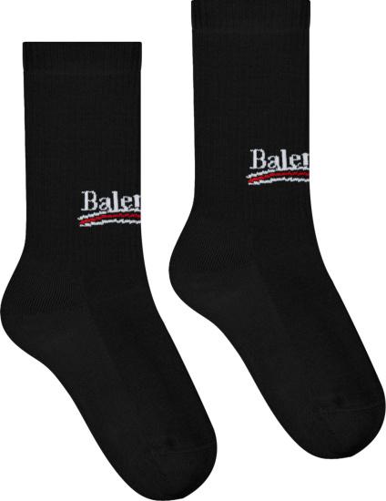 Balenciaga Black Political Campaign Socks