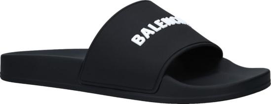 Balenciaga Black Pool Slides