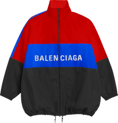 Balenciaga Black Red And Blue Windbreaker Jacket