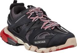 Balenciaga Black Red White Track Sneakers