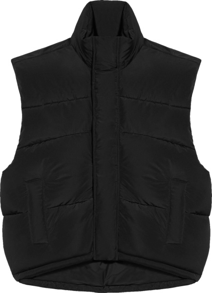 Balenciaga Black Sleeveless Cocoon Puffer Vest