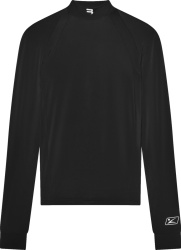 Balenciaga Black Sports B Logo Long Sleeve Mock Neck T Shirt
