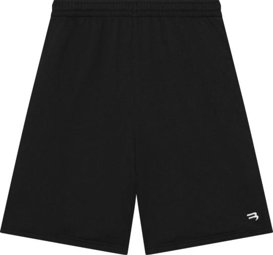 Balenciaga Black Sporty B Logo Sweatshorts 657062tkv931070