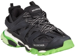 Balenciaga Black Track Sneakers With Glow In The Dark Soles