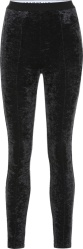 Balenciaga Black Velvet Leggings
