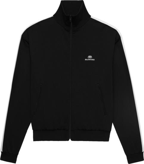 Balenciaga Black White Stripe Track Jacket 601727tgv041070