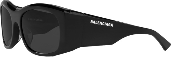 Balenciaga Black Wide Square Sunglasses