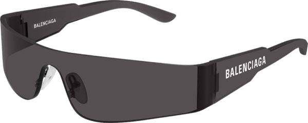 Balenciaga Black Wraparound Sunglasses