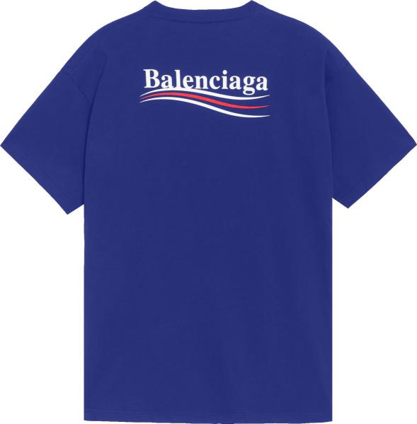 Balenciaga Blue Political Campaign T Shirt