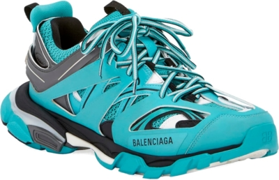 Balenciaga Blue And Grey Track Trainers