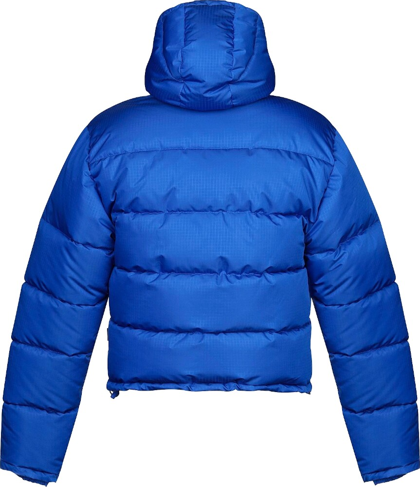 Balenciaga Blue Cropped Puffer Jacket