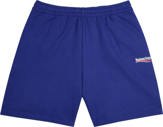 Balenciaga Blue Political Logo Shorts