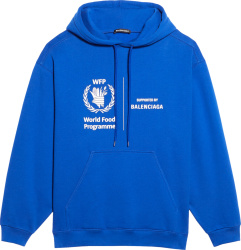 Balenciaga Blue World Food Programme Hoodie