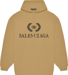 Balenciaga Brown Bb Wreath Logo Hat