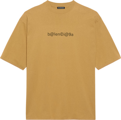 Balenciaga Brown Symbolic T Shirt