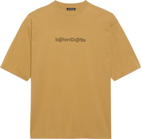 Balenciaga Brown Symbolic T Shirt