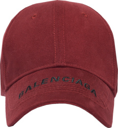 Balenciaga Burgundy Psychedelic Hat