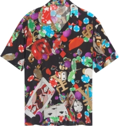 Balenciaga Casino Print Black Button Up Shirt