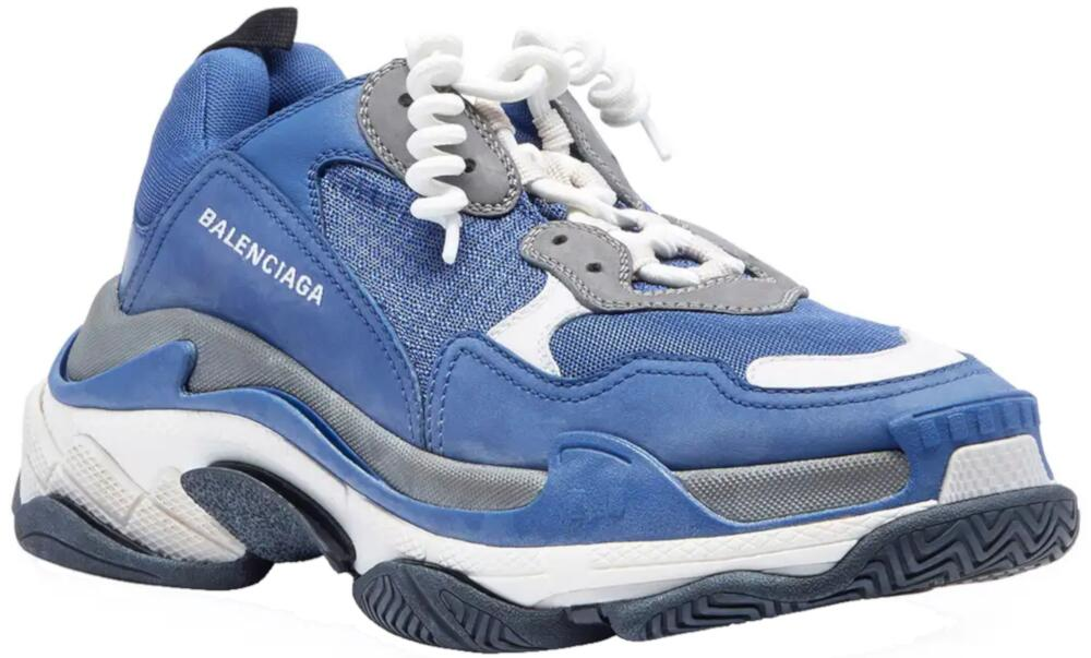 Balenciaga Cruly Lace Blue Sneakers