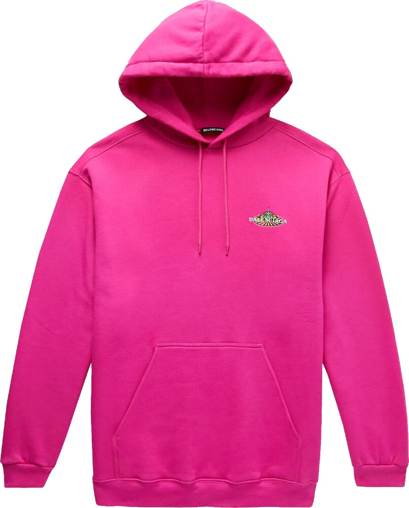 Balenciaga Eifle Tower Embroidered Pink Hoodie