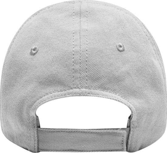 Balenciaga Grey And Black Logo Embroidered Hat
