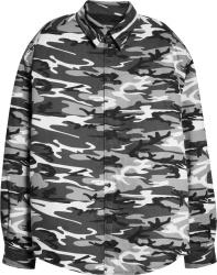 Balenciaga Grey Camo Padded Shirt