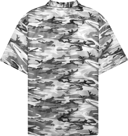 Balenciaga Grey Camouflage Mesh Shirt