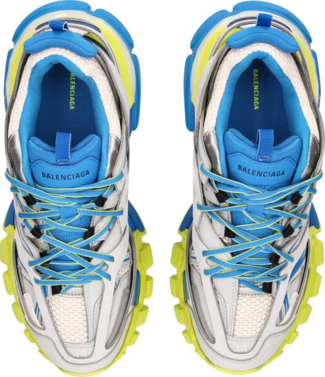 Balenciaga Grey Yellow Blue Track Sneakers